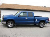 2004 Arrival Blue Metallic Chevrolet Silverado 1500 Work Truck Extended Cab 4x4 #16732339