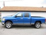 2007 Electric Blue Pearl Dodge Ram 1500 SLT Quad Cab 4x4 #16732354