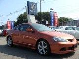 2006 Blaze Orange Metallic Acura RSX Type S Sports Coupe #16749528