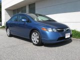 2007 Atomic Blue Metallic Honda Civic LX Sedan #16759015