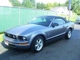 2007 Tungsten Grey Metallic Ford Mustang V6 Premium Convertible #16752468