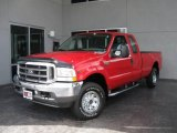 2002 Red Clearcoat Ford F250 Super Duty XLT SuperCab 4x4 #16833427