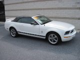 2006 Performance White Ford Mustang V6 Deluxe Convertible #16848723
