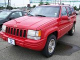 1996 Flame Red Jeep Grand Cherokee Limited 4x4 #16903337