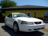 2000 Crystal White Ford Mustang V6 Convertible #16998174