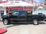 2000 Black Ford F250 Super Duty Lariat Crew Cab 4x4 #16996788