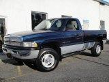 2001 Patriot Blue Pearl Dodge Ram 1500 SLT Regular Cab 4x4 #16987423