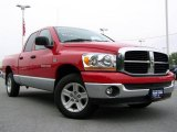 2006 Flame Red Dodge Ram 1500 SLT Quad Cab #16986167