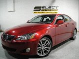 2008 Matador Red Mica Lexus IS 350 #16991173