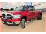 2007 Flame Red Dodge Ram 3500 Lone Star Quad Cab 4x4 Dually #17048746