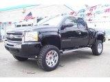 2009 Black Chevrolet Silverado 1500 LS Extended Cab 4x4 #17039247
