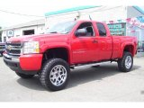 2009 Victory Red Chevrolet Silverado 1500 LS Extended Cab 4x4 #17039246
