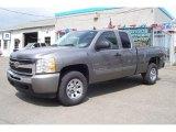 2009 Graystone Metallic Chevrolet Silverado 1500 LS Extended Cab 4x4 #17039242