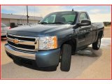 2008 Blue Granite Metallic Chevrolet Silverado 1500 Work Truck Regular Cab #17047442