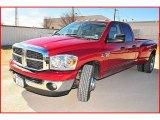 2007 Flame Red Dodge Ram 3500 SLT Quad Cab Dually #1703809