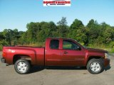 2009 Deep Ruby Red Metallic Chevrolet Silverado 1500 LT Extended Cab 4x4 #17115431