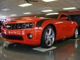 2010 Inferno Orange Metallic Chevrolet Camaro SS Coupe #17110496