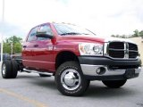 2007 Inferno Red Crystal Pearl Dodge Ram 3500 SLT Quad Cab Chassis #17100205