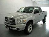 2008 Bright Silver Metallic Dodge Ram 1500 Big Horn Edition Quad Cab 4x4 #17171846
