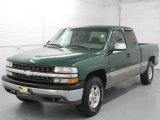 1999 Meadow Green Metallic Chevrolet Silverado 1500 LS Extended Cab 4x4 #17200412