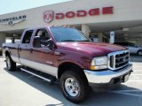 2004 Dark Toreador Red Metallic Ford F250 Super Duty Lariat Crew Cab 4x4 #17198765