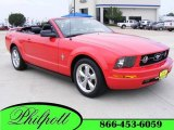 2006 Torch Red Ford Mustang V6 Premium Convertible #17193993