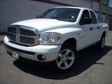 2007 Bright White Dodge Ram 1500 SLT Quad Cab 4x4 #17200464