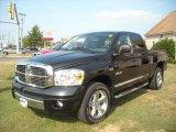 2008 Brilliant Black Crystal Pearl Dodge Ram 1500 Laramie Quad Cab 4x4 #17200432