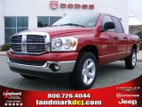 2008 Inferno Red Crystal Pearl Dodge Ram 1500 Big Horn Edition Quad Cab #17191220