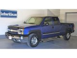 2003 Arrival Blue Metallic Chevrolet Silverado 1500 LS Extended Cab 4x4 #17267699
