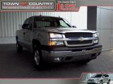 2005 Silver Birch Metallic Chevrolet Silverado 1500 LT Extended Cab 4x4 #17267434