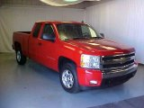 2007 Victory Red Chevrolet Silverado 1500 LT Extended Cab #17266979