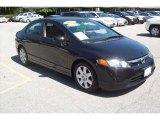 2007 Nighthawk Black Pearl Honda Civic LX Sedan #17266529
