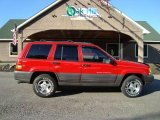 1996 Flame Red Jeep Grand Cherokee Laredo 4x4 #17266838