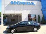 2007 Nighthawk Black Pearl Honda Civic LX Sedan #17256238