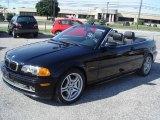 2001 Jet Black BMW 3 Series 330i Convertible #17328228