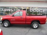 2006 Inferno Red Crystal Pearl Dodge Ram 1500 ST Regular Cab #17331965