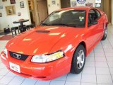 2000 Performance Red Ford Mustang V6 Coupe #17315743