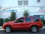 2002 Inferno Red Tinted Pearlcoat Jeep Grand Cherokee Limited 4x4 #17316100