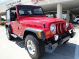 2000 Jeep Wrangler Flame Red