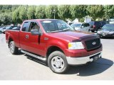 2006 Dark Toreador Red Metallic Ford F150 XLT SuperCab 4x4 #17313180