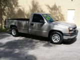 2006 Silver Birch Metallic Chevrolet Silverado 1500 Work Truck Regular Cab #17391098