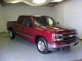 2006 Sport Red Metallic Chevrolet Silverado 1500 LS Crew Cab #17413914