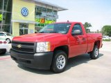2008 Victory Red Chevrolet Silverado 1500 Work Truck Regular Cab #17411889