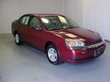 2005 Sport Red Metallic Chevrolet Malibu LS V6 Sedan #17413896