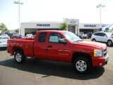 2009 Victory Red Chevrolet Silverado 1500 LT Extended Cab #17414368