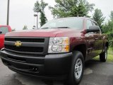 2009 Deep Ruby Red Metallic Chevrolet Silverado 1500 Crew Cab 4x4 #17416335