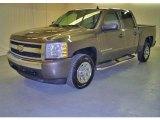 2007 Graystone Metallic Chevrolet Silverado 1500 LT Crew Cab #17416060
