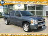 2007 Blue Granite Metallic Chevrolet Silverado 1500 LT Crew Cab #17408676