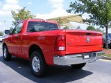 2009 Flame Red Dodge Ram 1500 SLT Regular Cab #17406837